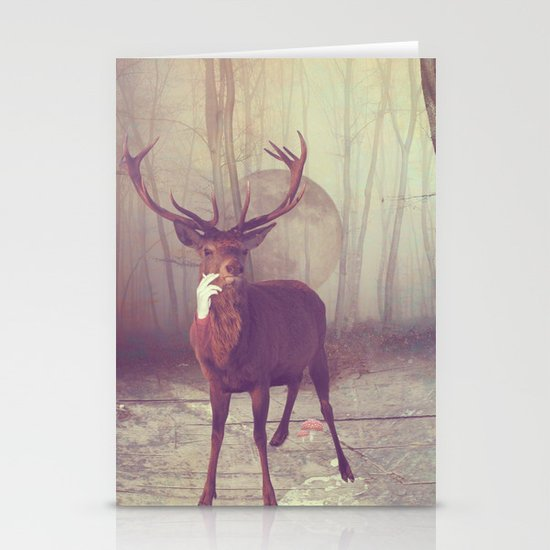 Fairy tale : deer Stationery Cards