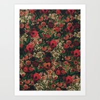 flower pattern Art Prints featuring Flower Pattern by ricardogarcia