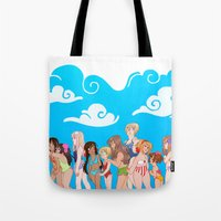 hetalia Tote Bags featuring Hetalia Girls by kitkatkatee