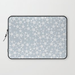 Block Printed Dusty Blue and White Stars Laptop Sleeve