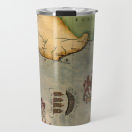 Map Of The English Channel 1588 Travel Mug