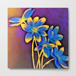 Radiating Flowers Metal Print