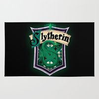 slytherin Area & Throw Rugs featuring Slytherin by Zeynep Aktaş