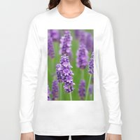 lavender Long Sleeve T-shirts featuring lavender by GISMANA