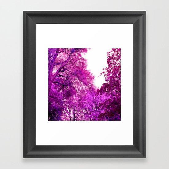 purple trees II Framed Art Print