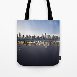 Chicago In Time Tote Bag
