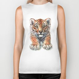 Playful Tiger Cub 907 Biker Tank