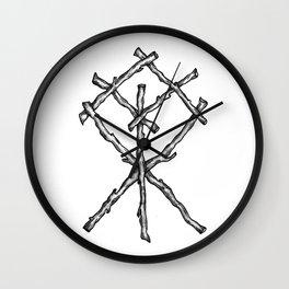 Rune Binding Wall Clock