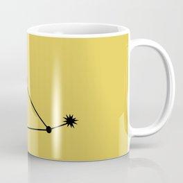 CAPRICORN (BLACK-GOLD STAR SIGN) Coffee Mug
