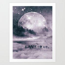The Cloud Passengers Art Print