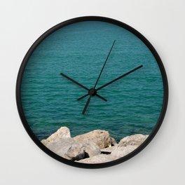 The calming beach view Wall Clock