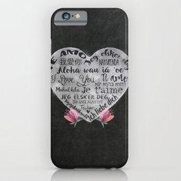 I Love You Chalk Heart iPhone Case