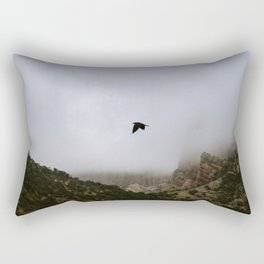 Free as a bird flying through the mountains, Big Bend - Landscape Photography Rectangular Pillow