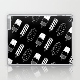Summer Ice Lollies (Black) Laptop & iPad Skin