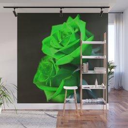 St. Patrick's Day Shamrock-Green Roses Wall Mural