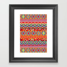 India Style Pattern (Multicolor) Framed Art Print
