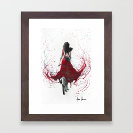 New Heart Bicycle Framed Art Print