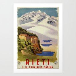 Rieti Sabina vintage Italian travel Art Print