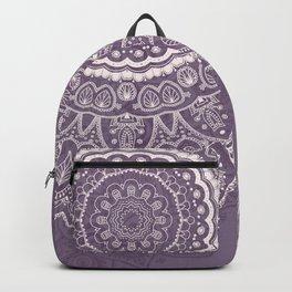 Mandala Tulips in Lavender ad Cream Backpack