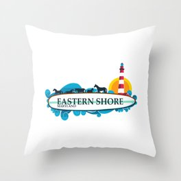 Eastern Shore - Maryland. Throw Pillow