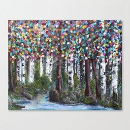 A Colorful Stroll Canvas Print