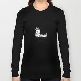Belém Tower Lisbon Portugal Black and White Long Sleeve T-shirt