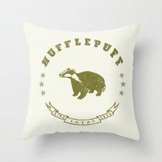 Hufflepuff House Throw Pillow