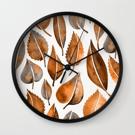 Cascading Leaves – Orange Palette Wall Clock
