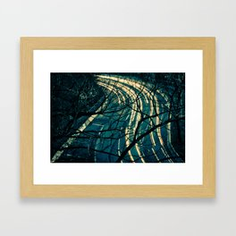 Light Trail Framed Art Print