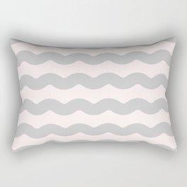Winter 2019 Color: Gasp Gray on Millennial Pink Waves Rectangular Pillow