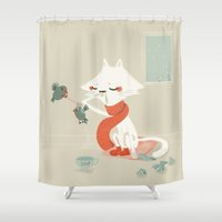 running Shower Curtains featuring Running nose by BabyKarot