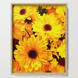 Daisies Yellow 3 Serving Tray