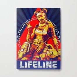 Lifeline Apex Legend Metal Print