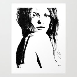 Vanessa Paradis I Art Print