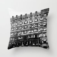 building Throw Pillows featuring Building by Tristan Tait
