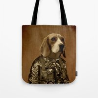 beagle Tote Bags featuring Beagle by Durro
