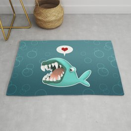 Carnivorous Whale wants Love Rug