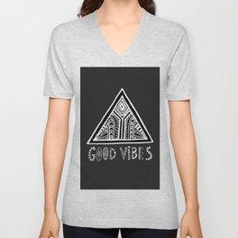 Feel Good Vibes Black White mindset 2 Unisex V-Neck