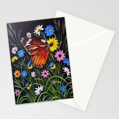 wild flowers and Butterflies Stationery Cards