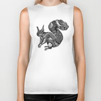 squirrel Biker Tanks featuring Squirrel by Rebexi