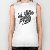squirrel Biker Tanks featuring Squirrel by Ejaculesc