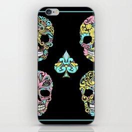 Floral Day Of Dead Sugar Skulls iPhone Skin