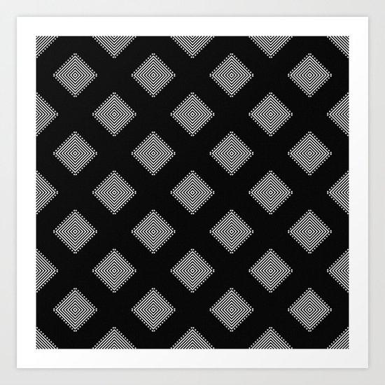 Optical Triangles Art Print