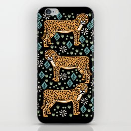 Cheetah safari art printmaking screen print giclee by andrea lauren iPhone Skin