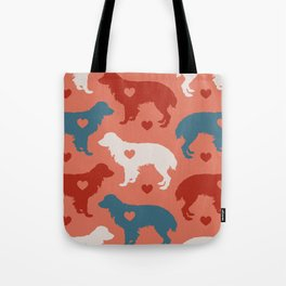 Valentine's dog surface pattern Tote Bag