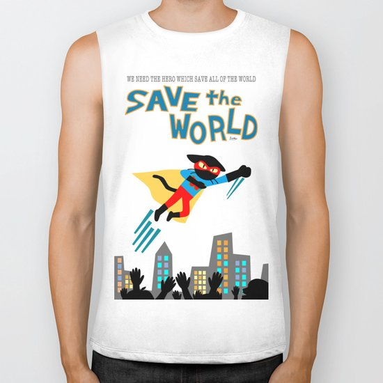 Save the World Biker Tank