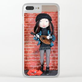 Ashling the mandolin player Clear iPhone Case
