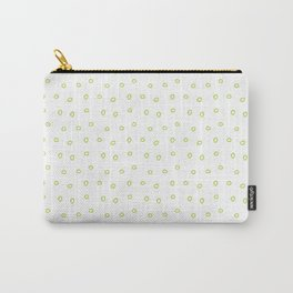 Green minimal hand drawn ring pattern Carry-All Pouch