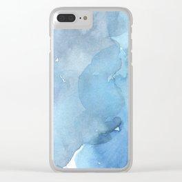 blue#2 Clear iPhone Case