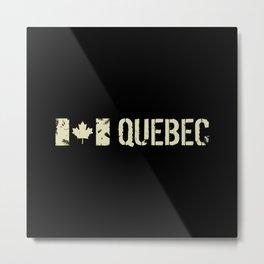 Canadian Flag: Quebec Metal Print